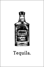 Wandsticker  Tequila. - Typobox