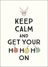 Holzbild  Keep calm and get your Hohoho on - Typobox