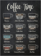 Leinwandbild  Coffee Time (Englisch) - Typobox