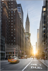 Premium-Poster Fifth Avenue und Chrysler Building in New York City, USA