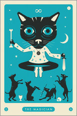 Premium-Poster THE MAGICIAN TAROT CARD CAT