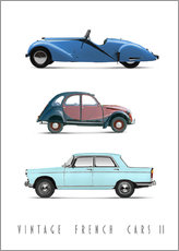 Premium-Poster Vintage French Cars 02