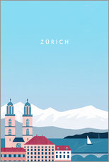 Wandsticker  Zürich Illustration - Katinka Reinke