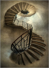 Alubild  Spiral staircase in an old tower - Jaroslaw Blaminsky
