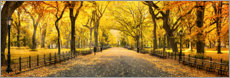 Poster  Central Park im Herbst - Art Couture
