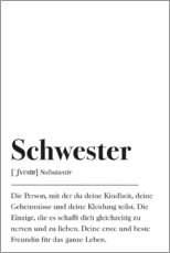 Premium-Poster  Schwester Definition - Johanna von Pulse of Art
