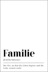 Premium-Poster Familie Definition