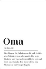 Alubild  Oma Definition - Pulse of Art