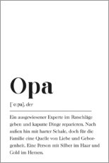 Premium-Poster  Opa Definition - Pulse of Art