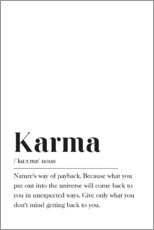 Hartschaumbild  Karma Definition (Englisch) - Pulse of Art