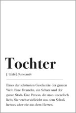 Premium-Poster Tochter Definition