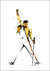 Gallery Print  Freddie Mercury - tom