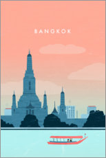 Wandsticker  Bangkok Illustration - Katinka Reinke