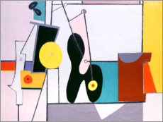 Alubild  Komposition in Rosa - Arshile Gorky