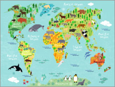 Alubild  Animal Worldmap - Kidz Collection