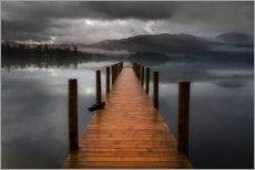 Premium-Poster  Derwentwater Jetty im Lake District - Simon J. Turnbull