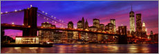 Hartschaumbild  Brooklyn bridge - Art Couture