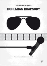 Premium-Poster No1038 My Bohemian Rhapsody minimal movie poster