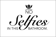 Hartschaumbild  No selfies in this bathroom - Typobox