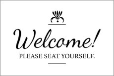 Alubild  Please seat yourself - Typobox