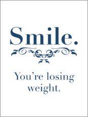 Premium-Poster  You're losing weight - Typobox
