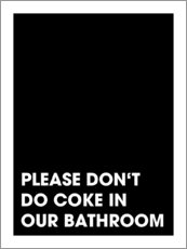 Acrylglasbild  Please don't do coke - Typobox