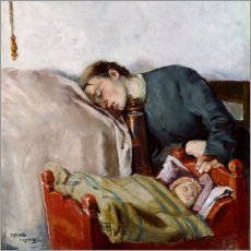 Wandsticker  Mutter und Kind (Detail) - Christian Krohg