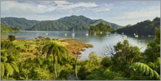 Leinwandbild  Marlborough Sound - Rainer Mirau