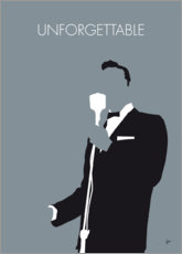 Premium-Poster No247 MY Nat King Cole Minimal Music poster