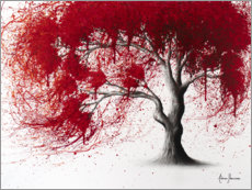 Premium-Poster Western Red Tree