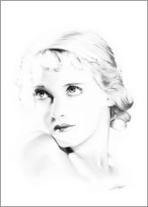 Premium-Poster  Hollywood Diva - Bette Davis - Dirk Richter