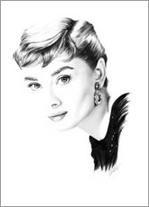 Hartschaumbild  Hollywood Diva - Audrey Hepburn - Dirk Richter