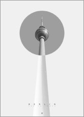Premium-Poster  Berlin - Der Fernsehturm - Black Sign Artwork