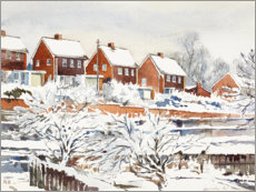 Acrylglasbild  Hamstreet im Winter, England - Mary Want