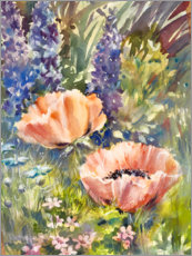 Acrylglasbild  Wildblumenwiese mit Mohn - Mary Want