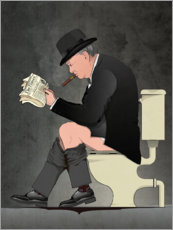 Gallery Print  Churchill auf der Toilette - Wyatt9