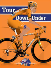 Premium-Poster Tour Down Under Radrennen