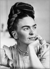 Poster  Thoughtful Frida Kahlo - Celebrity Collection