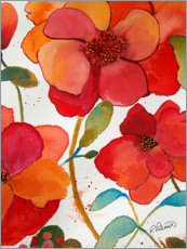 Premium-Poster Blumen in rosa und orange II