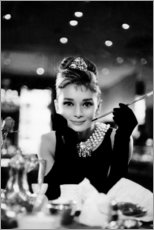 Leinwandbild  Audrey Hepburn in Breakfast at Tiffany's - Celebrity Collection
