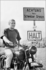 Hartschaumbild  Steve McQueen in Gesprengte Ketten - Celebrity Collection