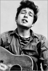 Leinwandbild  Bob Dylan mit Gitarre - Celebrity Collection