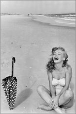 Premium-Poster  Marilyn Monroe am Strand - Celebrity Collection