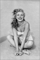 Holzbild  Marilyn Monroe im Badeanzug - Celebrity Collection