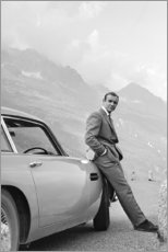 Hartschaumbild  Sean Connery als James Bond - Celebrity Collection
