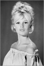 Holzbild  Brigitte Bardot schulterfrei - Celebrity Collection