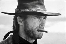 Hartschaumbild  Clint Eastwood in Zwei glorreiche Halunken - Celebrity Collection
