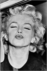 Gallery Print  Marilyn Monroe Kussmund - Celebrity Collection