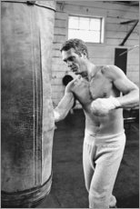 Premium-Poster  Steve McQueen beim Boxen - Celebrity Collection