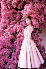 Hartschaumbild  Audrey Hepburn im Abendkleid - Celebrity Collection